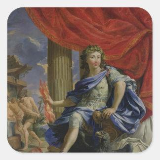 Louis XIV som Jupiter som erövrar Fronden Fyrkantigt Klistermärke
