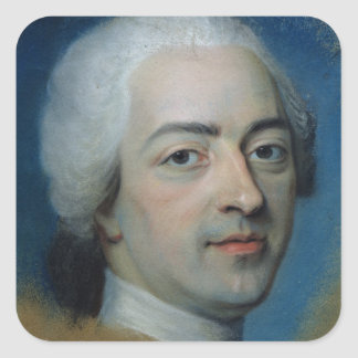 Louis XV kung av frankriken och Navarre, efter Fyrkantigt Klistermärke
