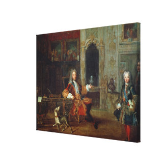 Louis XV och regenten, Philippe II Canvastryck