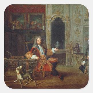 Louis XV och regenten, Philippe II Fyrkantigt Klistermärke