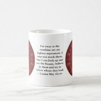 Louisa majAlcott INSPIRERA CITATIONSTECKEN Kaffemugg