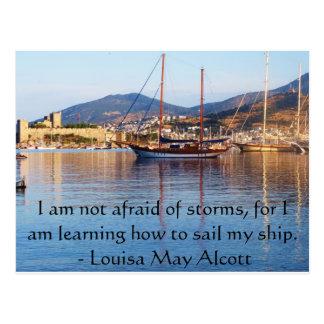 Louisa majAlcott inspirera CITATIONSTECKEN Vykort