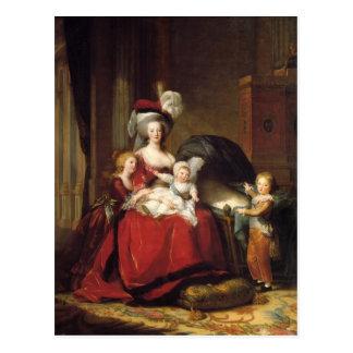 Louise Le Brun- Marie Antoinette och henne barn Vykort