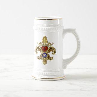 Louisiana Bicentennial Flor de lis Beskåda antyder Ölkrus