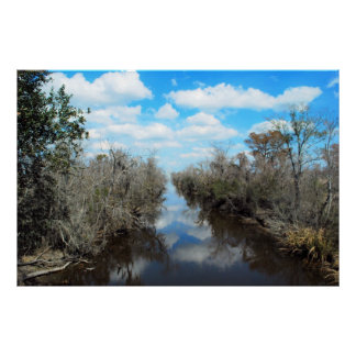Louisiana flodarmfoto-kanfas konst poster