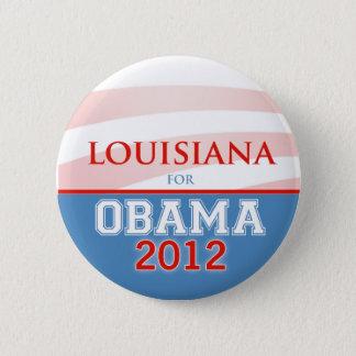 LOUISIANA för Obama 2012 Standard Knapp Rund 5.7 Cm