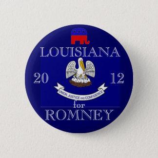 Louisiana för Romney 2012 Standard Knapp Rund 5.7 Cm