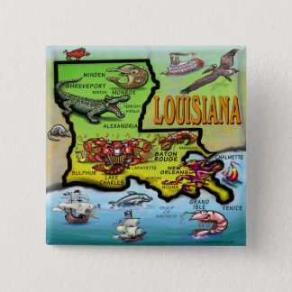 Louisiana Standard Kanpp Fyrkantig 5.1 Cm