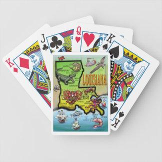 Louisiana tecknadkarta spelkort