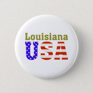 Louisiana USA! Standard Knapp Rund 5.7 Cm