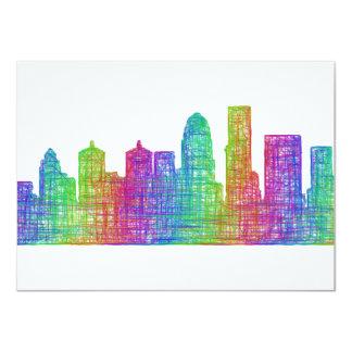 Louisville horisont 11,4 x 15,9 cm inbjudningskort