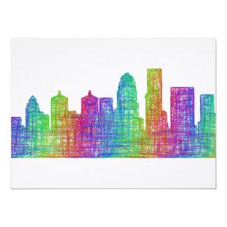 Louisville horisont 14 x 19,5 cm inbjudningskort