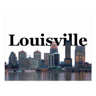 Louisville KY horisont med Louisville i himmlen Vykort