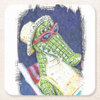 Loungning ödla underlägg papper kvadrat
