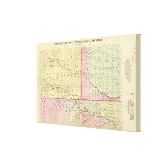 Loup, Blaine, Custer och Logan County, Nebraska Canvastryck