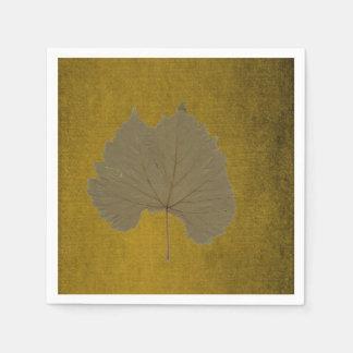 Löv för dammiga grå färg för vintage torrt på pappersservett
