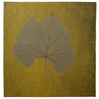 Löv för dammiga grå färg för vintage torrt på tygservett