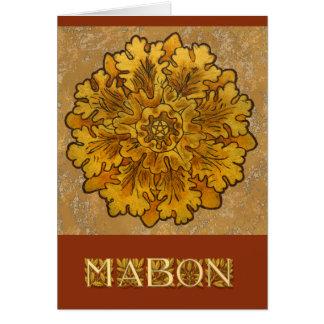Löv för Mabon rundaOak samla i en klunga OBS Kort
