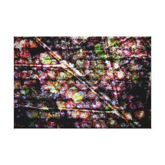 Löv och druvor i akryl canvastryck