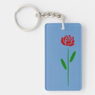 Löv och Stem för grönt för singelart décoröd ros