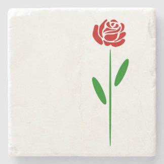 Löv och Stem för grönt för singelart décoröd ros Underlägg Sten