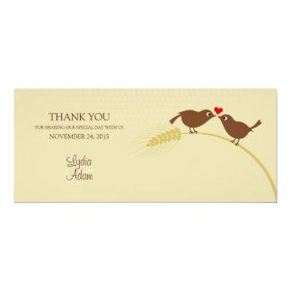 """Love birds 4"""""""" tackkort för bröllop x9.25 10,2 x 23,5 cm inbjudningskort"""