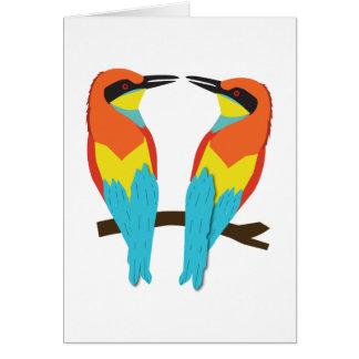 LOVE BIRDS för hälsningkort Hälsningskort