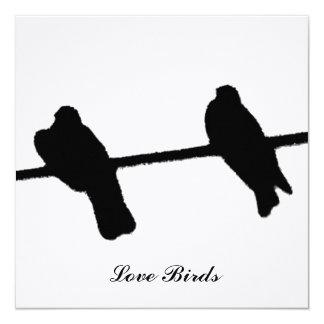 Love birds fyrkantigt 13,3 cm inbjudningskort