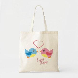 Love birds hänger lös tote bag