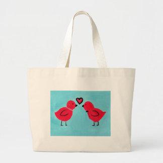 Love birds jumbo tygkasse
