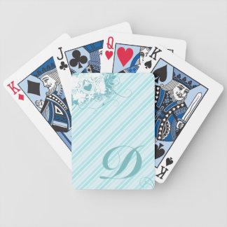 Love birds märka med sina initialer att leka kort spelkort