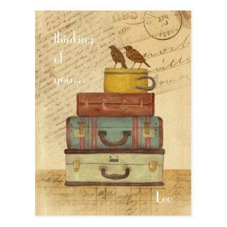 Love birds som är tänkande av dig vykort