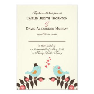Love birds som gifta sig inbjudan