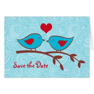 Love birds sparar daterakortet OBS kort