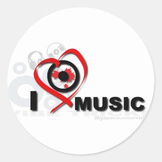 love music runt klistermärke