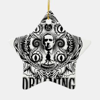 Lovecraftian drömmar julgransprydnad keramik