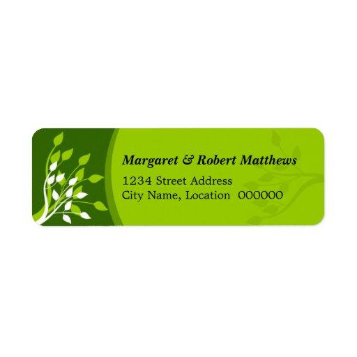 Lövgröntetiketter Returadress Etikett