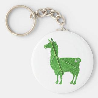 LövLlama Keychain Rund Nyckelring