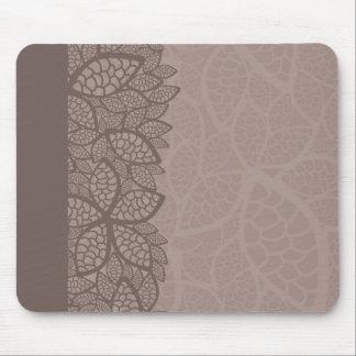 Lövmönstergräns och bakgrund mus matta