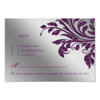 LövOSA som gifta sig gnistran för lilor för 8,9 X 12,7 Cm Inbjudningskort
