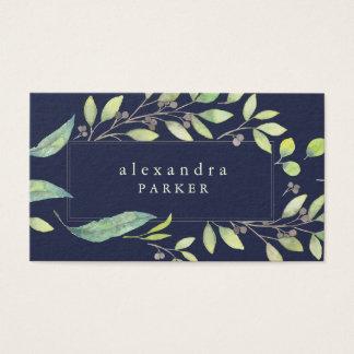 Lövrik moderiktig vattenfärg för grönt | på visitkort