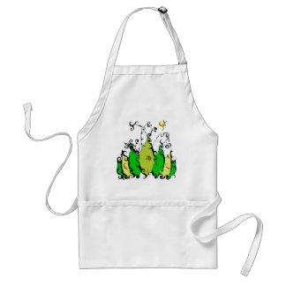 Lövrika gröntar på kock förkläde