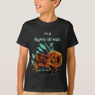 Lövrikt lejont vilddjurkonstverk tee shirt