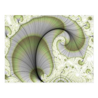 Lövrikt mönster för gröntabstraktFractal Vykort