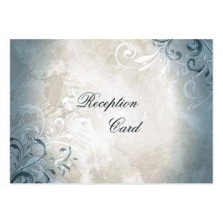 Lövverk för vintage för kort för bröllopmottagande visitkort