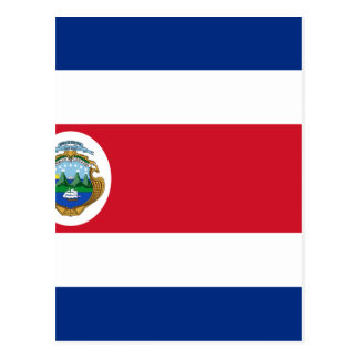 Lowen kostar! Costa Rica flagga Vykort