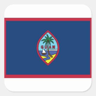 Lowen kostar! Guam flagga Fyrkantigt Klistermärke