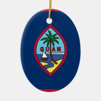 Lowen kostar! Guam flagga Julgransprydnad Keramik