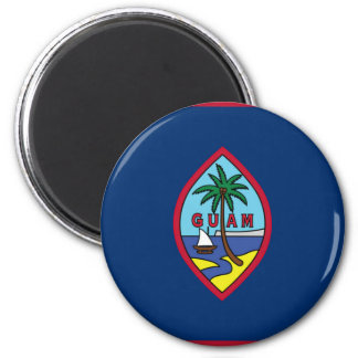 Lowen kostar! Guam flagga Magnet