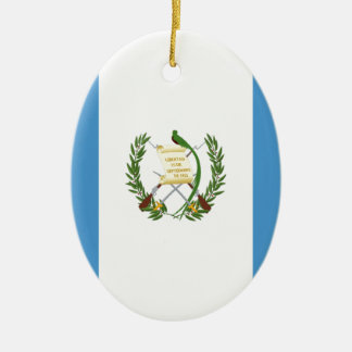 Lowen kostar! Guatemala flagga Julgransprydnad Keramik